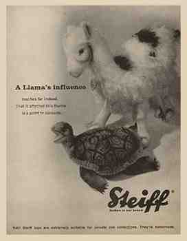 Steiff stuffed animals ad